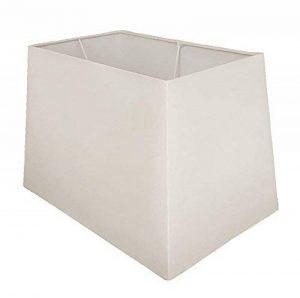 43,2cm Blanc rectangulaire lampe de table Abat-jour de la marque Lights and Linen image 0 produit