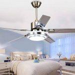 5 lames télécommande ventilateur de plafond 3-lumière dimmable rotation inverse en acier inoxydable LED ventilateur plafonnier intérieur muet économie d'énergie ventilateur lustre (42 дюйма) de la marque Torero X image 1 produit