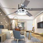 5 lames télécommande ventilateur de plafond 3-lumière dimmable rotation inverse en acier inoxydable LED ventilateur plafonnier intérieur muet économie d'énergie ventilateur lustre (42 дюйма) de la marque Torero X image 2 produit