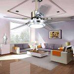 5 lames télécommande ventilateur de plafond 3-lumière dimmable rotation inverse en acier inoxydable LED ventilateur plafonnier intérieur muet économie d'énergie ventilateur lustre (42 дюйма) de la marque Torero X image 3 produit