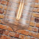 50% de remise–en verre moderne Pendentif lumière plafond lampe goutte d'eau de la marque LOMT image 3 produit