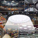 50W LED UFO Spot, 33000LM Etanche IP54 ultra-mince LED Projecteur Industriel Lustre Haute Baie Lumière Intérieur Extérieur - UFO LED High Bay Lighting pour l'usine, Atelier, Gym, Parking sous-sol (50W) de la marque shinning-star image 4 produit