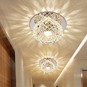 5W LED Eclairage Encastré Cadre et Lampe LED Downlight Lampe Intégrée Spots de Plafond Rond Moderne Cristal Applique Murale pour Vestibule, Couloir, Entrée Ø 12CM , Blanc chaud de la marque HanLinLight image 0 produit