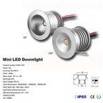 6 mini spots LED 12V 1W, lampe encastrée pour vitrine, escaliers, coin - Etanchéité IP65,CE ROHS, blanc chaud, 120° de la marque KPSUN image 1 produit