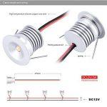 6 mini spots LED 12V 1W, lampe encastrée pour vitrine, escaliers, coin - Etanchéité IP65,CE ROHS, blanc chaud, 120° de la marque KPSUN image 4 produit