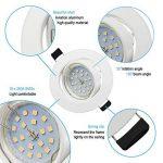 (6 Pack) Plafonnier LED,Sunpion 3000K 5W Spots LED Encastré,Lampe de Salon LED Nickel Mat Spot Plafonnier Led Salle de Bain Eclairage Led Plafond(6 Pack with Shell) de la marque Sunpion image 2 produit