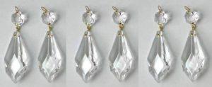 6 pampilles en cristal 38mm avec octogons pour lustres - décoration de la marque cristal pour lustre image 0 produit