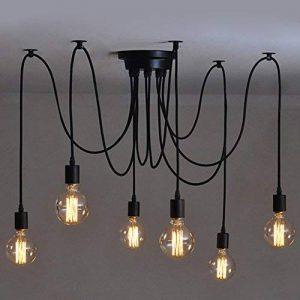 6 pcs Luminaire Suspension-Style Européen Moderne IKEA Lampe Pendante & Lampe Plafonnier-DIY Installation Facile pour Éclairage Cuisine, Salle À Manger, Salon, Chambre D'enfants et de Restaurant de la marque Beisaqi image 0 produit