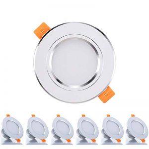 6 x Spots LED Encastrables Kimjo, 3W 2700K Blanc Chaud 300LM Équivalente de 30W Lampe Halogène, Spots de Plafond Rond AC85-265V Transformateur Fourni, 120° D'éclairage Pour Cuisine, Salon, Couloir de la marque Kimjo image 0 produit
