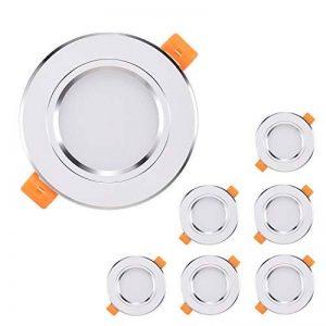 6 x Spots LED Encastrables Kimjo, 7W 6000K Blanc Froid 700LM Équivalente de 70W Lampe Halogène, Spots de Plafond Rond AC85-265V Transformateur Fourni, 120° D'éclairage Pour Cuisine, Salon, Couloir de la marque Kimjo image 0 produit
