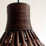 60W Lustre Lampe suspension Abat-jour Contemporain rotin+fer pendentif Lampe en conception de nature pour chambre d'enfant chambre bébé Salon cuisine de la marque Homelavafans image 3 produit