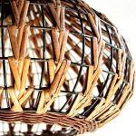 60W Lustre Lampe suspension Abat-jour Contemporain rotin+fer pendentif Lampe en conception de nature pour chambre d'enfant chambre bébé Salon cuisine de la marque Homelavafans image 4 produit