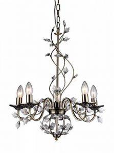 6702/5Charlotte 5-light Lustre Cristal branches, 50,8cm, Bronze de la marque Whse of Tiffany image 0 produit