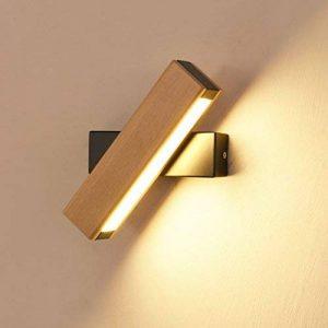 6W LED murale rotatif Multi intérieur de lit modèle Éclairage mural aluminium bois bois couleur Applique murale décorative, fer, Bois de la marque QUASHION image 0 produit