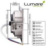 6x Lumare Slim Line LED spot encastrable IP44 angulaire/argent avec seulement une profondeur d'installation de 27 mm!   Spot de plafond 4W 400lm AC 230V de la marque Lumare image 3 produit