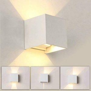 7W Applique Murale de LED avec angle d'éclairage réglable Design étanche IP65 Led Éclairage Lampe Murale Blanc Chaud 3000 K Pour Chambre Maison Couloir Salon (Blanche) de la marque Tvfly image 0 produit