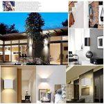 7W Applique Murale de LED avec angle d'éclairage réglable Design étanche IP65 Led Éclairage Lampe Murale Blanc Chaud 3000 K Pour Chambre Maison Couloir Salon (Blanche) de la marque Tvfly image 4 produit