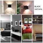 7W Applique Murale de LED avec angle d'éclairage réglable Design étanche IP65 Led Éclairage Lampe Murale Blanc Chaud 3000 K Pour Chambre Maison Couloir Salon (Noire) de la marque Tvfly image 3 produit