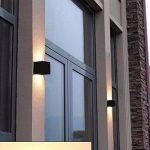 7W Moderne Led Applique Murale Interieur / Exterieur Noire, Anti-Eau IP65 Réglable Lampe Up and Down Design 3000K Blanc Chaud pour Chambre Maison Couloir Salon de la marque Flyv image 3 produit