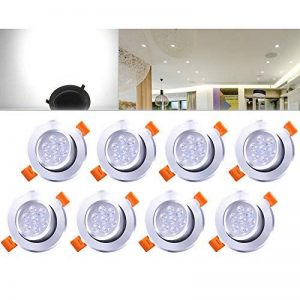 8 7 W blanc froid spot lED encastrable pour montage au plafond lampe de projecteur de la marque HD2014 image 0 produit