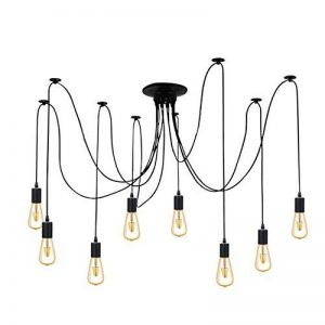 8 Branches E27 Douille Lustre Plafond Lampe 1,8 m câble, Rétro Suspensions Luminaire Plafond Lumière éclairage Plafonniers Lustres Luminaire Eclairage de plafond de la marque Maxsal image 0 produit