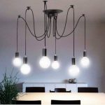 8 Branches E27 Douille Lustre Plafond Lampe 1,8 m câble, Rétro Suspensions Luminaire Plafond Lumière éclairage Plafonniers Lustres Luminaire Eclairage de plafond de la marque Maxsal image 4 produit