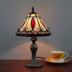 8 Pouces Creative Vitraux Pastoraux Rétro Antique Lampe De Table Lampe De Chevet Lampe De Bureau Pour Salon Chambre À Coucher de la marque Gweat Tiffany image 0 produit
