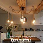 8 têtes rétro Chandelier industriel de corde de chanvre / salon lumières pendantes de restaurant / luminaire non inclus ampoule de la marque BLUE CHARM image 2 produit