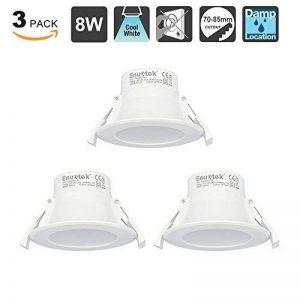 8W Eclairage Spot Encastrable LED Plafond Lampe Plafonnier Encastrable Blanc Froid 5000K 220V IP44 Trou de Plafond Φ70-85MM Lot de 3 de Enuotek de la marque ENUOTEK image 0 produit