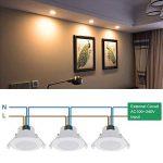 8W Lampe Spot LED Encastrable Plafond Eclairage Plafonnier Encastrable Blanc Chaud 3000K 220V IP44 Trou de Plafond Φ70-85MM Lot de 3 de Enuotek de la marque ENUOTEK image 3 produit