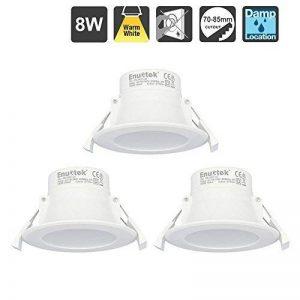 8W Lampe Spot LED Encastrable Plafond Eclairage Plafonnier Encastrable Blanc Chaud 3000K 220V IP44 Trou de Plafond Φ70-85MM Lot de 3 de Enuotek de la marque ENUOTEK image 0 produit