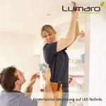 9x Lumare Slim Line LED spot encastrable IP44 angulaire/argent avec seulement une profondeur d'installation de 27 mm!   Spot de plafond 4W 400lm AC 230V de la marque Lumare image 4 produit