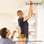 9x Lumare Slim Line LED spot encastrable IP44 rond/argent avec seulement une profondeur d'installation de 27 mm!   Spot de plafond 4W 400lm AC 230V de la marque Lumare image 4 produit