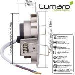 9x Lumare Slim Line LED spot encastrable IP44 rond/argent avec seulement une profondeur d'installation de 27 mm!   Spot de plafond 4W 400lm AC 230V de la marque Lumare image 2 produit