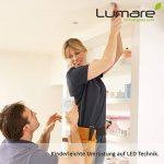 9x Lumaro Slim Line LED spot encastrable IP44 angulaire/blanc avec seulement une profondeur d'installation de 27 mm! Spot de plafond 4W 400lm AC 230V de la marque Lumaro image 1 produit