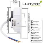 9x Lumaro Slim Line LED spot encastrable IP44 angulaire/blanc avec seulement une profondeur d'installation de 27 mm! Spot de plafond 4W 400lm AC 230V de la marque Lumaro image 3 produit