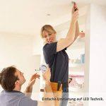 9x National Electronics Slim Line Spot à Encastrer en blanc avec seulement 25 mm Profondeur de Montage.   Lot de 9 spot plafond  intégré 3.5 W 320 lumens   Ampoule LED AC 230 V 160 ° Plafonnier Spot à Encastrer Blanc chaud blanc de la marque National Elec image 4 produit