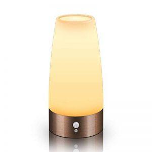 Aappy rétro petite nuit de style européen sans fil PIR capteur de mouvement à piles LED lampe de table decrative lampes d'éclairage pour lavabo chevet, chambre à coucher, salle de bains, couloir 3 AAA (Cuivre) de la marque Aappy image 0 produit