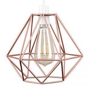 """Abat Jour""""Cage"""". Aspect Rétro d'un forme géometrique fini en aspect cuivre de la marque MiniSun image 0 produit"""