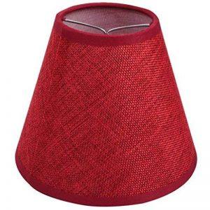 Abat-jour Clip fait main petit Couleur Rouge en lin Tissu de la marque ONEPRE image 0 produit