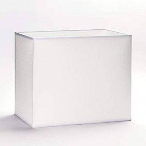 Abat-jour en tissu E27carré Blanc 32cm 40cm Lightbox Lampe de table, lampadaire rectangulaire, Weiß, 32x16cm (Höhe:18cm) de la marque Unbekannt image 0 produit