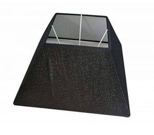 """Abat-jour Lin Oblique carré tissu textile Lin Shabby Chick carré Abat-jour E27, Noir, 12"""" de la marque LinQ® image 0 produit"""