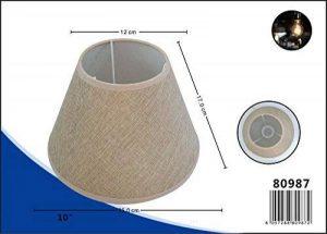Abat-jour Lin Oblique rond plastique Tissu Lin style shabby chic Abat-jour E27, beige, 10 Zoll de la marque LinQ® image 0 produit