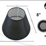 Abat-jour Lin Oblique rond plastique Tissu Lin style shabby chic Abat-jour E27, Noir, 8 Zoll de la marque LinQ® image 1 produit