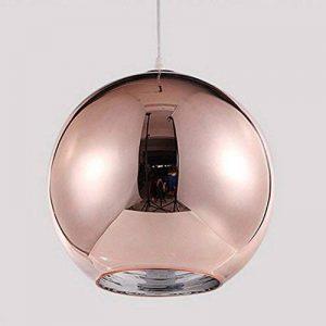Abat-jour Moderne Cuivre Miroir Lustre Boule Suspension globe en Chrome avec fil 120CM,Diamètre (Bronze, 15cm) de la marque Huahan Extension image 0 produit