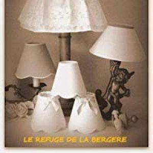 ABAT-JOUR PINCE FESTONNE ROUGE pour APPLIQUE, LUSTRE, FAIT MAIN de la marque LE REFUGE DE LA BERGERE image 0 produit