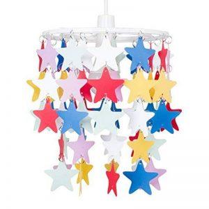 Abat Jour pour Suspension. Étoiles multicolores en cascade. Parfait pour une chambre d'enfant ou la crèche d'un bébé de la marque MiniSun image 0 produit