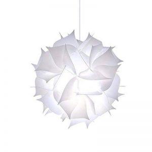 Abat-jour puzzle Fleur Papillon Abat-jour PP lampe Pendentif à suspendre Suspension Lampes de Plafond Bedroon Salon (Blanc) de la marque LB trading image 0 produit