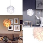 Abat-jour puzzle Fleur Papillon Abat-jour PP lampe Pendentif à suspendre Suspension Lampes de Plafond Bedroon Salon (Blanc) de la marque LB trading image 2 produit