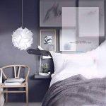 Abat-jour puzzle Fleur Papillon Abat-jour PP lampe Pendentif à suspendre Suspension Lampes de Plafond Bedroon Salon (Blanc) de la marque LB trading image 4 produit